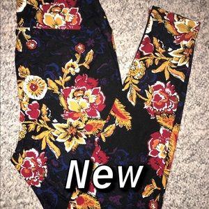 New Lularoe TC Flower Leggings